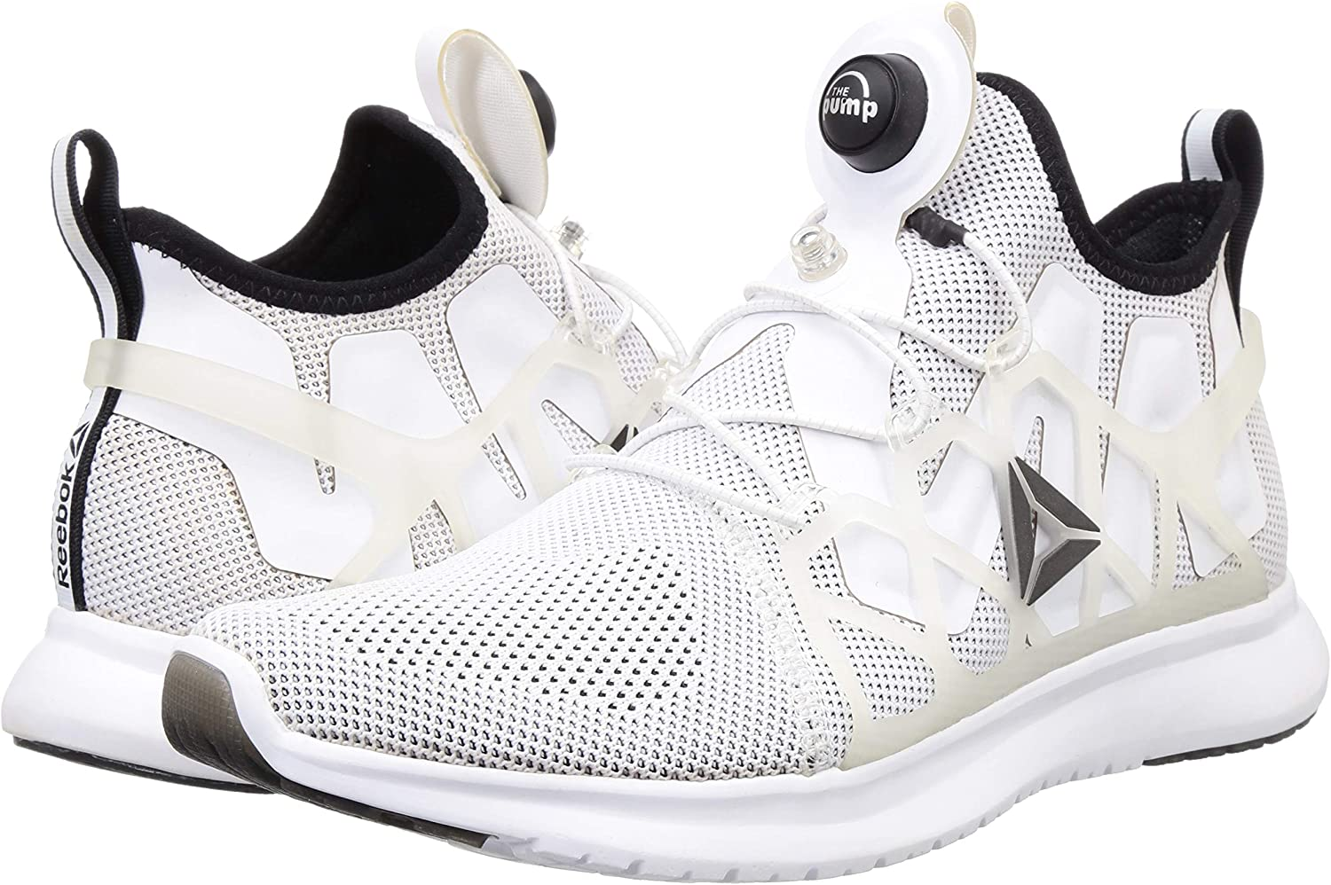 Reebok Pump Plus Cage, Zapatillas de Running para Hombre, Blanco (White/Black), 44.5 EU: Amazon.es: Zapatos y complementos
