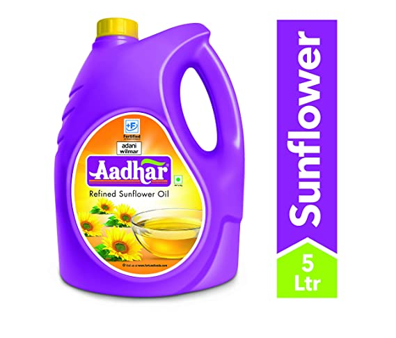 Aadhar Refined Sunflower Oil, 5L