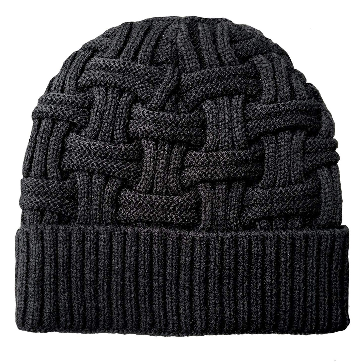 ad02d853 Loritta Mens Winter Warm Knitting Hats Wool Baggy Slouchy Beanie Hat Skull  Cap at Amazon Men's Clothing store: