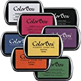 """ColorBox 1072 Clearsnap Stamp Pad Set, 3-1/4"""" x 2-1/4"""" Size, Assorted Colors (Pack of 8)"""