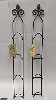 Manual Woodworkers and Weavers Metal Vertical Plate Racks Mini Rust Colored Set of & Amazon.com: Manual Woodworkers Decorative Iron Multiple Mini Plate ...
