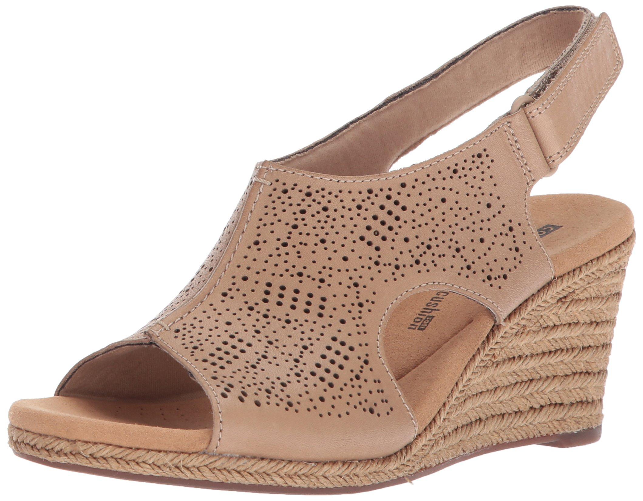 CLARKS Women's Lafley Rosen Platform, Sand Leather, 8 Medium US by CLARKS