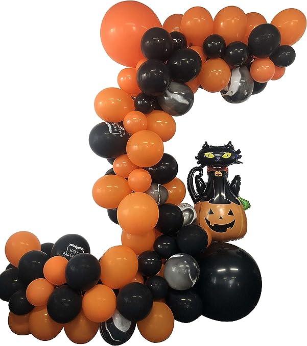 Halloween Party Balloons Latex High Quality ballon haloween Theme Orange Black