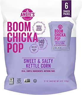product image for Angie's BOOMCHICKAPOP Sweet & Salty Kettle Corn Popcorn, 1 Ounce Bag (Pack of 6)