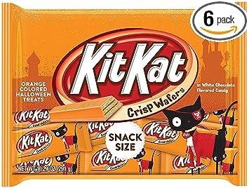 amazon com kit kat halloween orange colored white creme wafer bars
