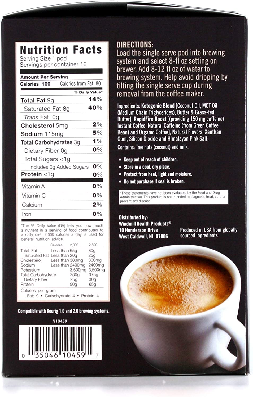 Amazon.com: Rapid Fire Ketogenic cápsulas de café Keto de ...