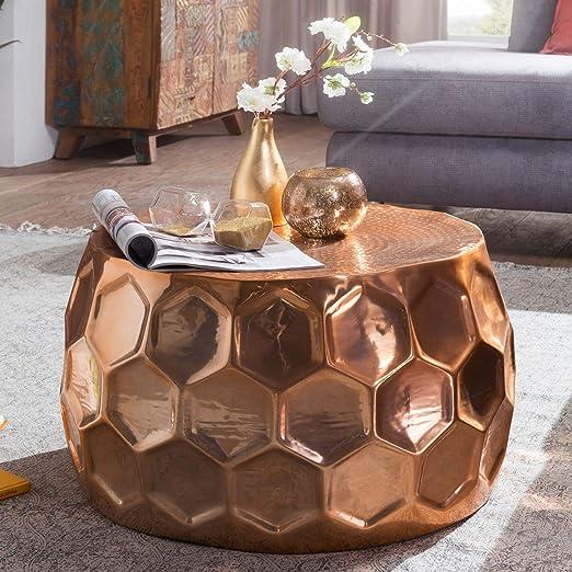 Wohnling Mesa Honeycomb 60 x 36 x 60 cm Aluminio anstell – Mesa ...