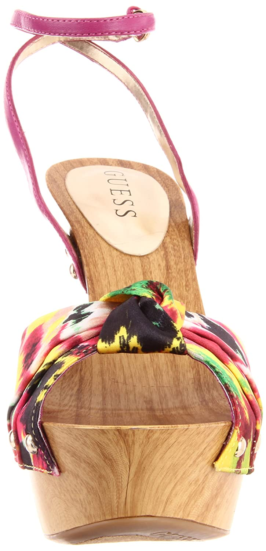 Guess Yamini Yamini Yamini High Heels- Gelb Multi Satin  Größe 41 2fdec5