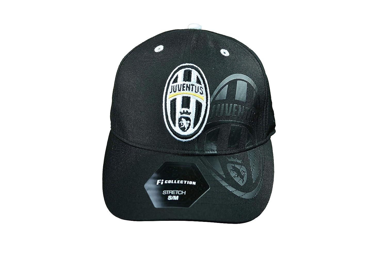 ユベンタス 公式ライセンス クラシック サッカーキャップ 帽子 - 1-6 S-M