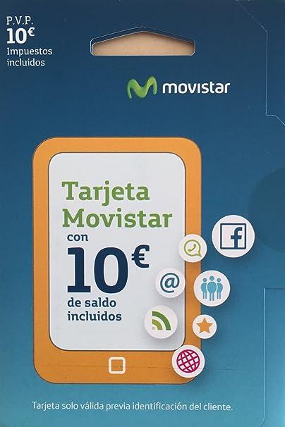Tarjeta SIM Movistar Prepago con 10 € de saldo: Amazon.es: Electrónica