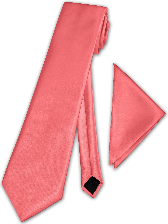 Herren Krawatte klassisch mit Einstecktuch Klassik Anzug Satinkrawatte - 30 Farben