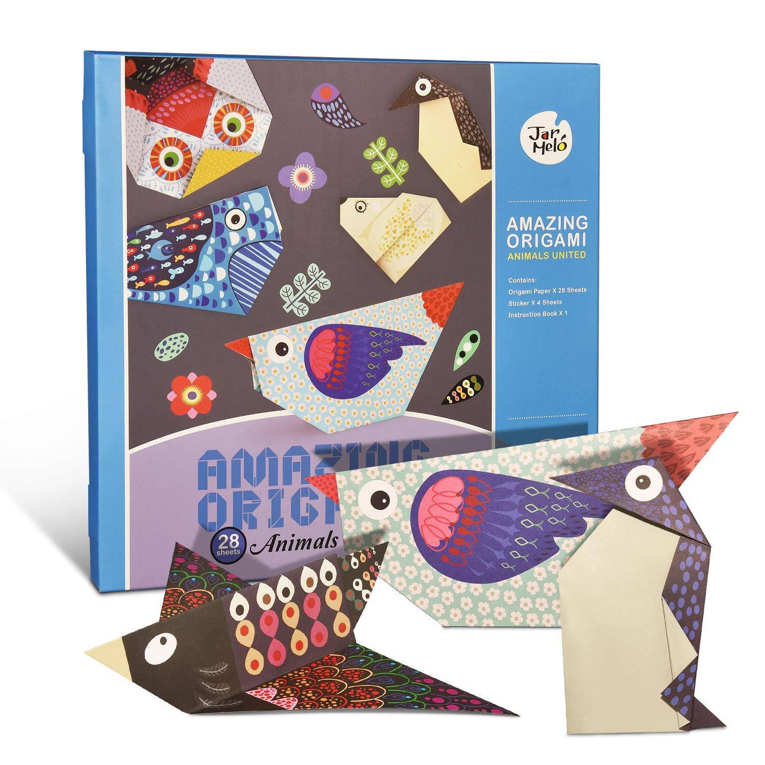 Arts And Crafts for Girls Age 5-12, SOKY Paper Crafts for Kids Ages 4-8 Animal Origami for Kids 6-7 Year Old Christmas Birthday Gifts Origami for Kids Beginners Toys Stocking Stuffers for Girls Kids by SOKY