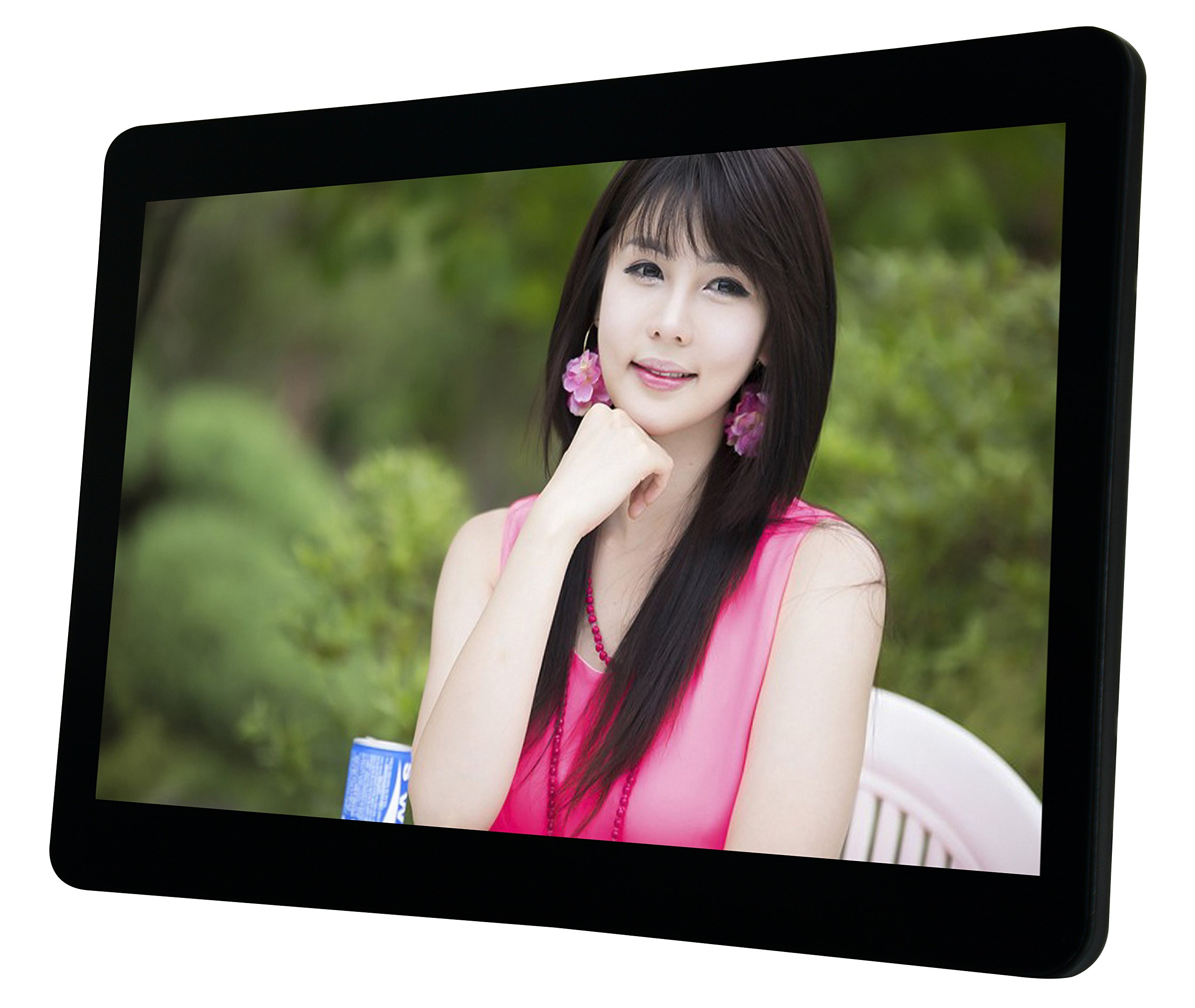10'' HD LCD Screen Advertising Media Video Player - [Strong Metal Frame] - Compatible with SD card or USB 2.0 - Remote control Included by Playerman