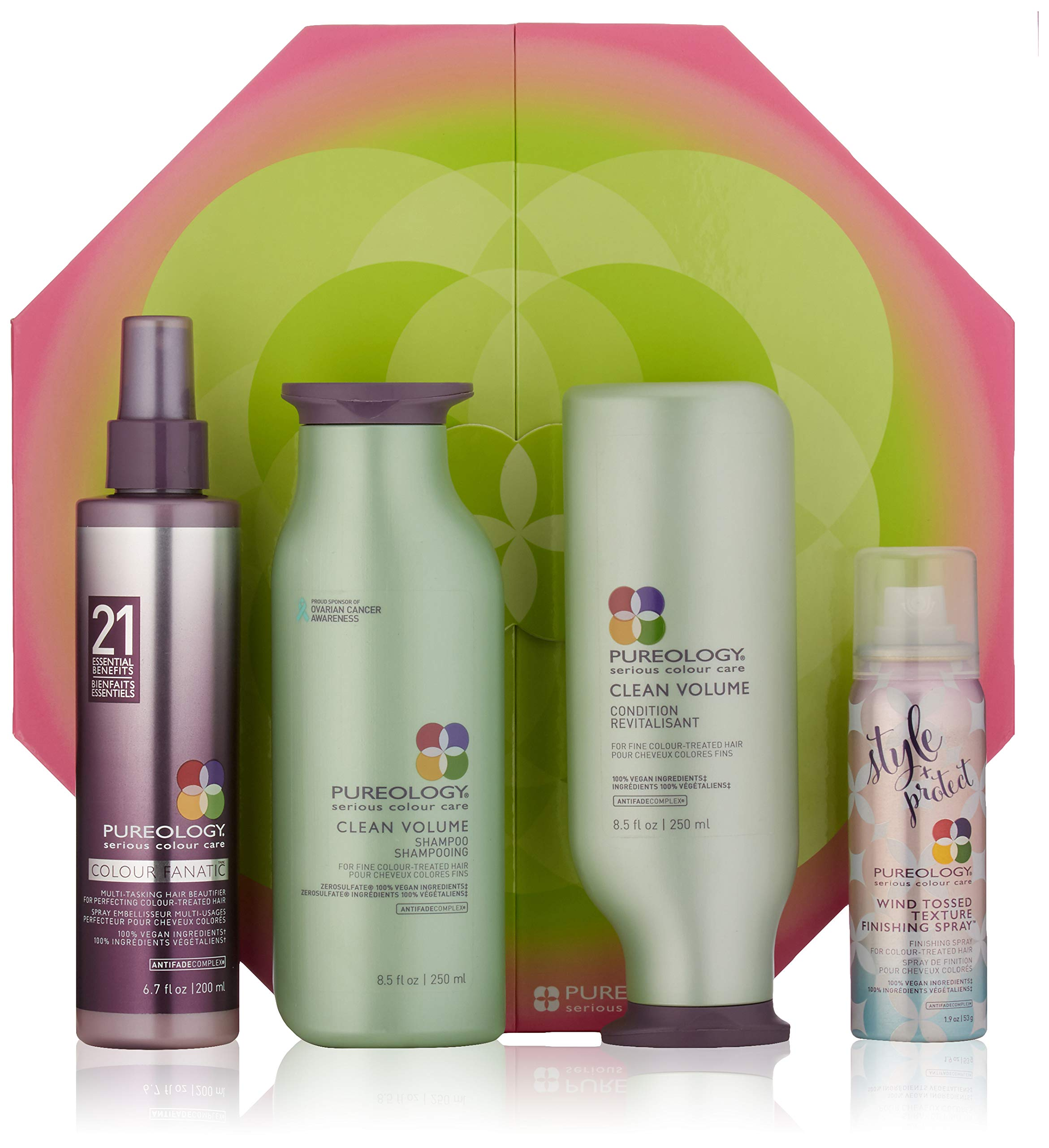 Pureology Clean Volume Shampoo and Conditioner Gift Set for Fine Color Treated Hair by Pureology