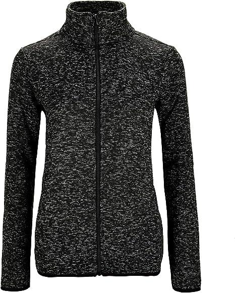 Dolcevida Fleece Zip Up Speckled Jacket