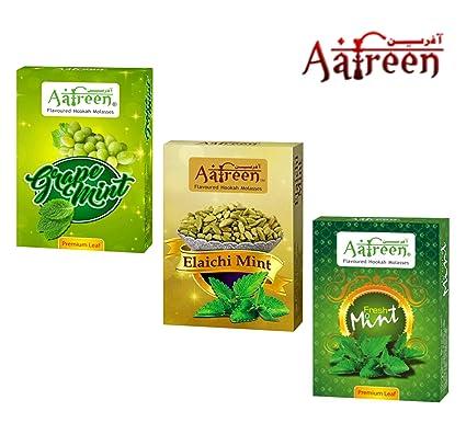 Aafreen PartyTime Hookah Flavours/Mint Mashup Combo (Elaichi Mint,Grape Mint & Fresh Mint) - Pack of 3.