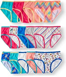 30ca9a9aaa00 Wonder Nation Girls 14-Pack Tag-Free Assorted Prints & Solids Hipsters