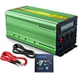 EDECOA Pure Sine Wave Power Inverter 1500W Peak 3000W DC 12V to 110V AC with LCD Display and Remote