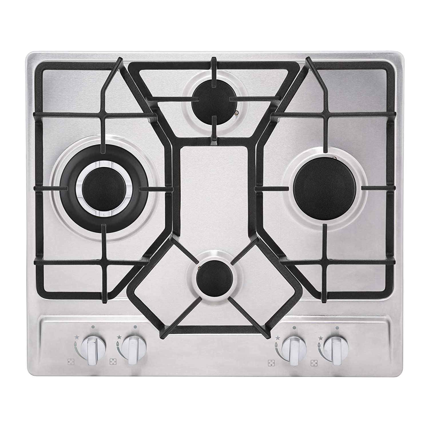 24 Inch Empava EMPV4L6A 4 Italy Imported Sabaf Burners NG//LPG Convertible Gas Stove Cooktop Tempered Glass Black