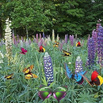 NanNanio - Lote de 20 alas de jardín de Mariposas de Colores en 3D ...