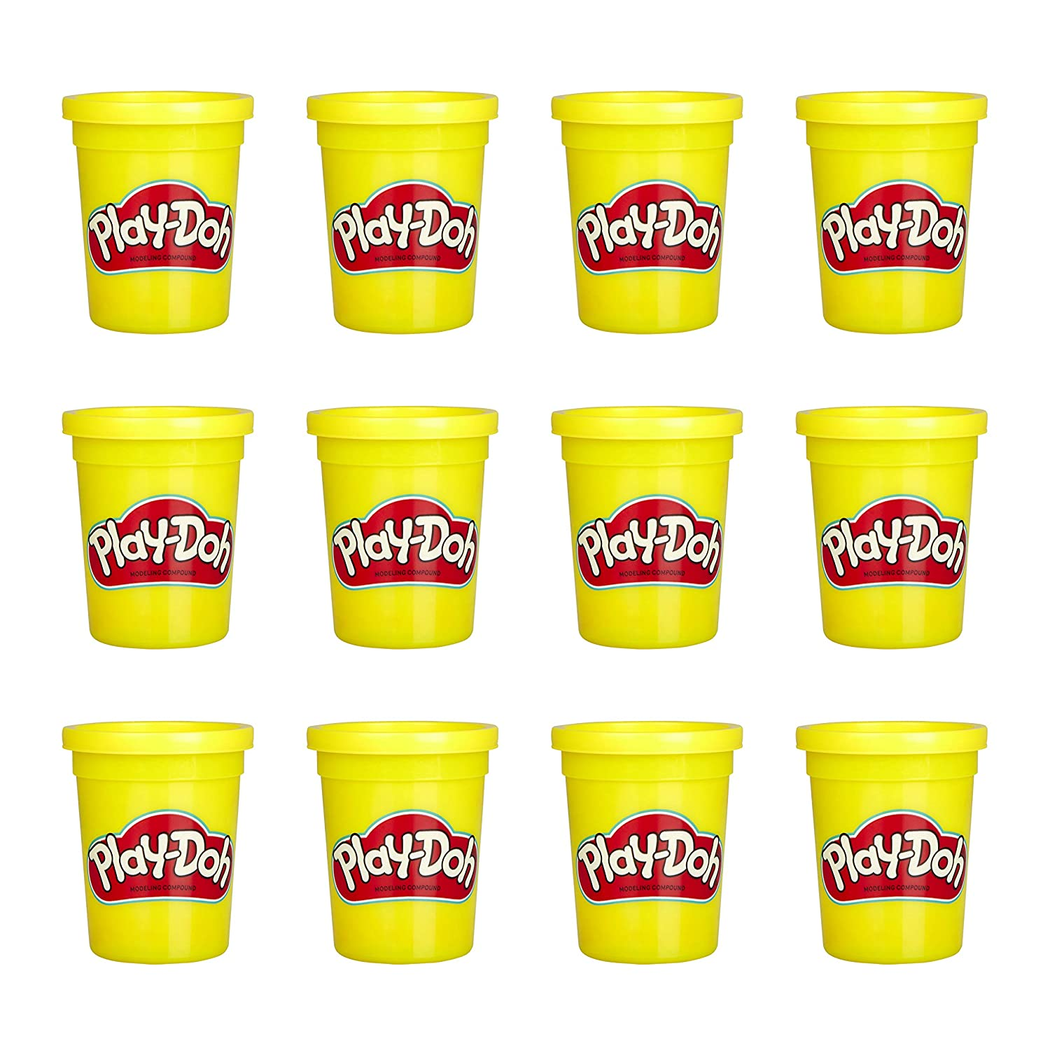 Play-Doh Bulk 12-Pack of Yellow Non-Toxic Modeling Compound 4-Ounce Cans Hasbro E4829AF1