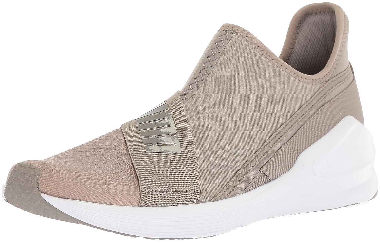 PUMA Women's Fierce Slip-on Wn Sneaker B071GL7DLL 7.5 M US|Rock Ridge-puma White
