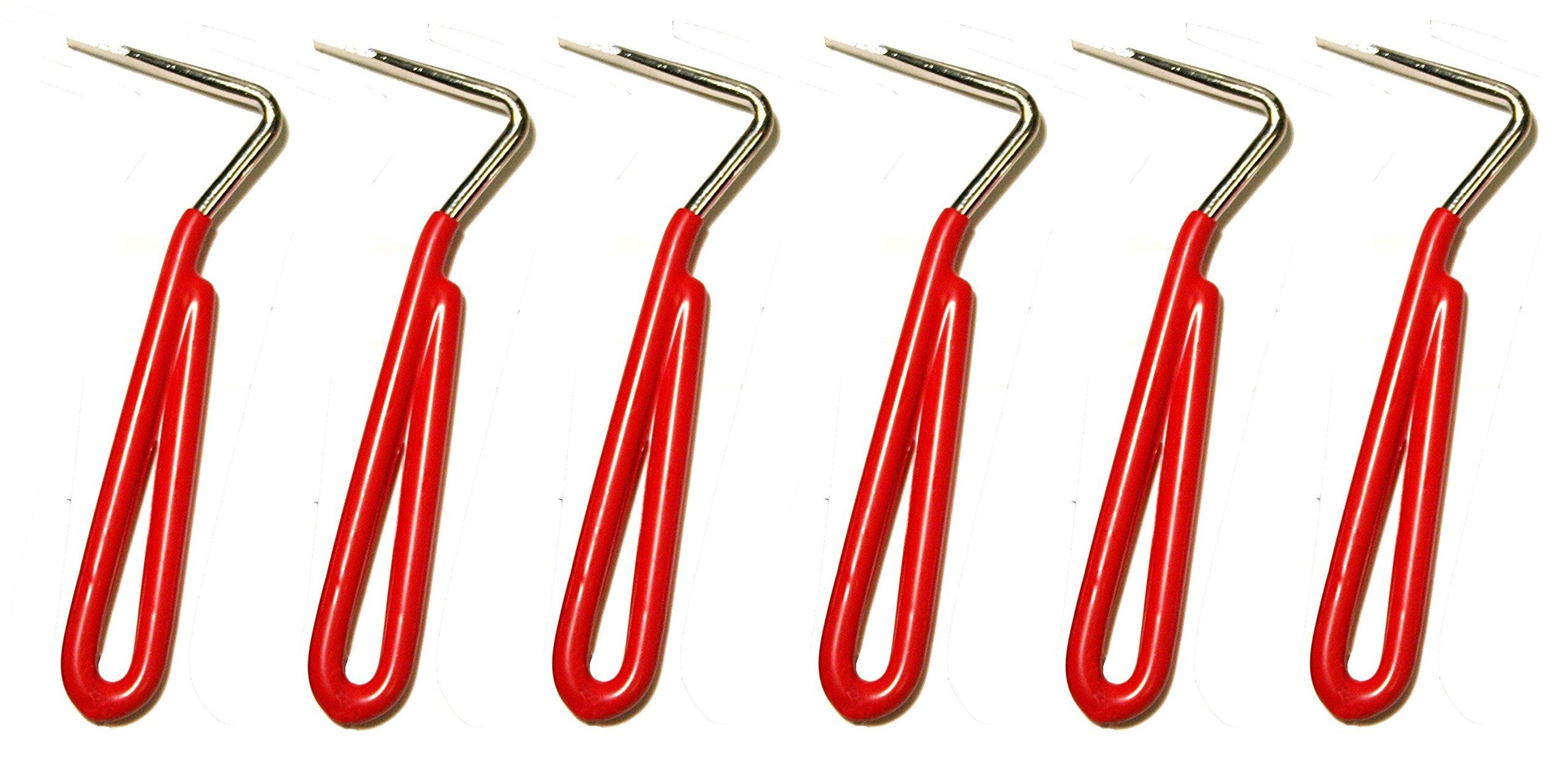 PVC Coated Hoof Pick (Lot of 6) - Red