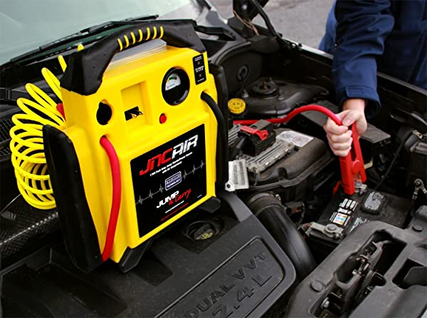The JNCAIR jump starter will give you a lot more in terms of cranking power because it uses Clore Proformer batteries.
