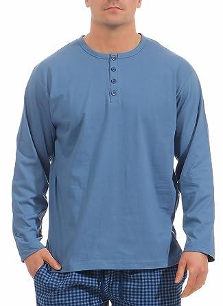 328689eb2943 Normann Herren T-Shirt langarm Pyjama Mix   Match ideal zum kombinieren 181  119 90