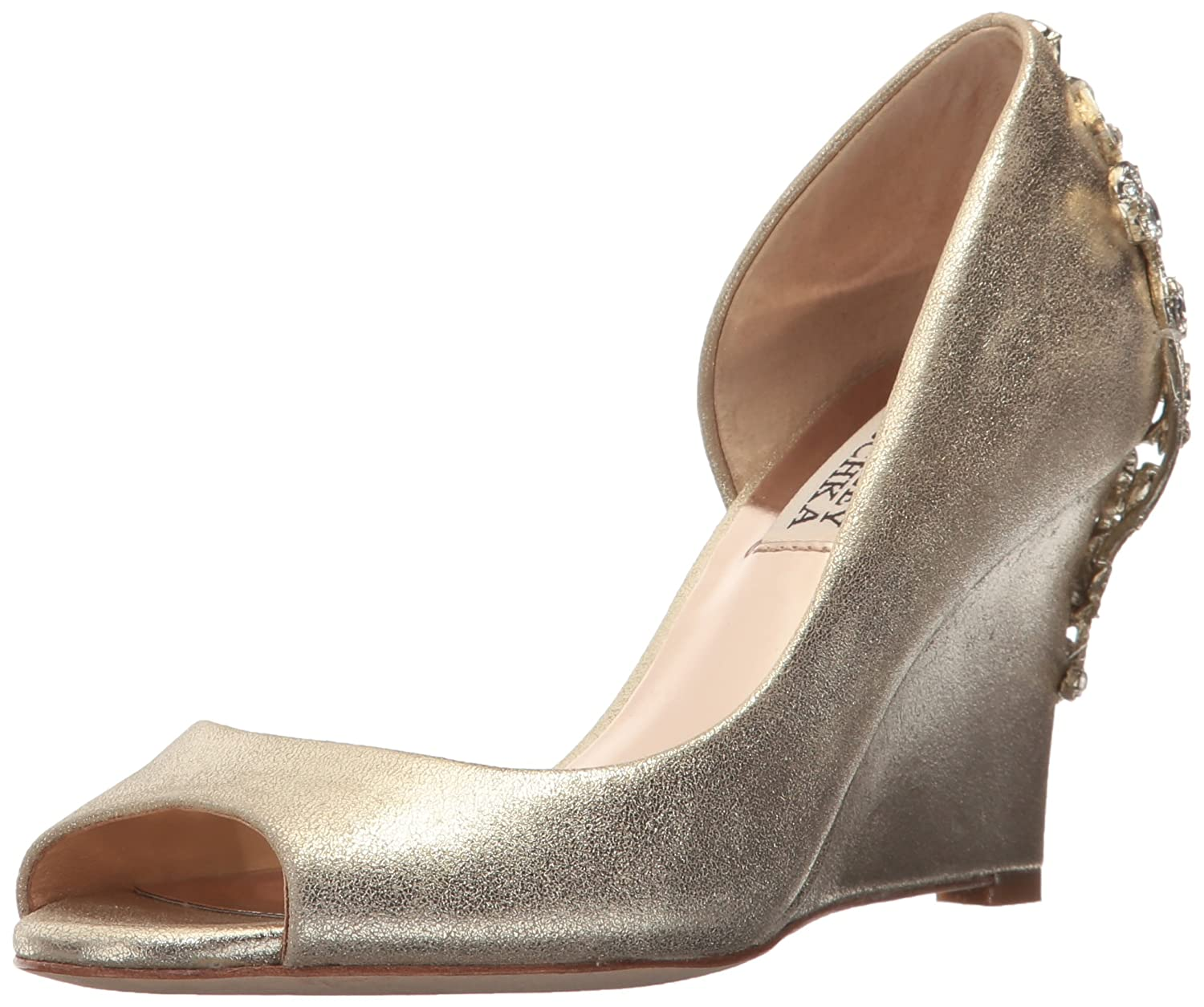 Badgley Mischka Women's Meagan II Pump B0734ZKT1J 6 B(M) US|Platino