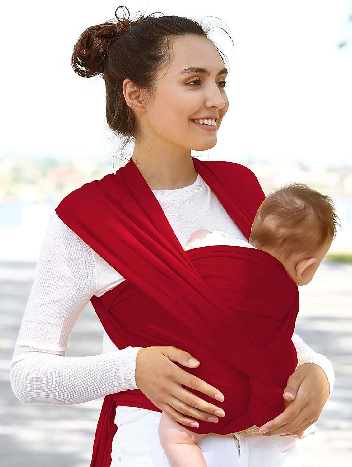 Fuufa breathable baby carrier is an elastic sling sling carrier for newborns and babies with binding instructions and free drawstring bag your baby will love our baby towel//carrying system./…