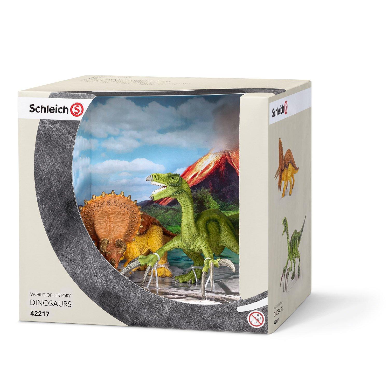 Schleich 42217 - Triceratops und Therizinosaurus, klein