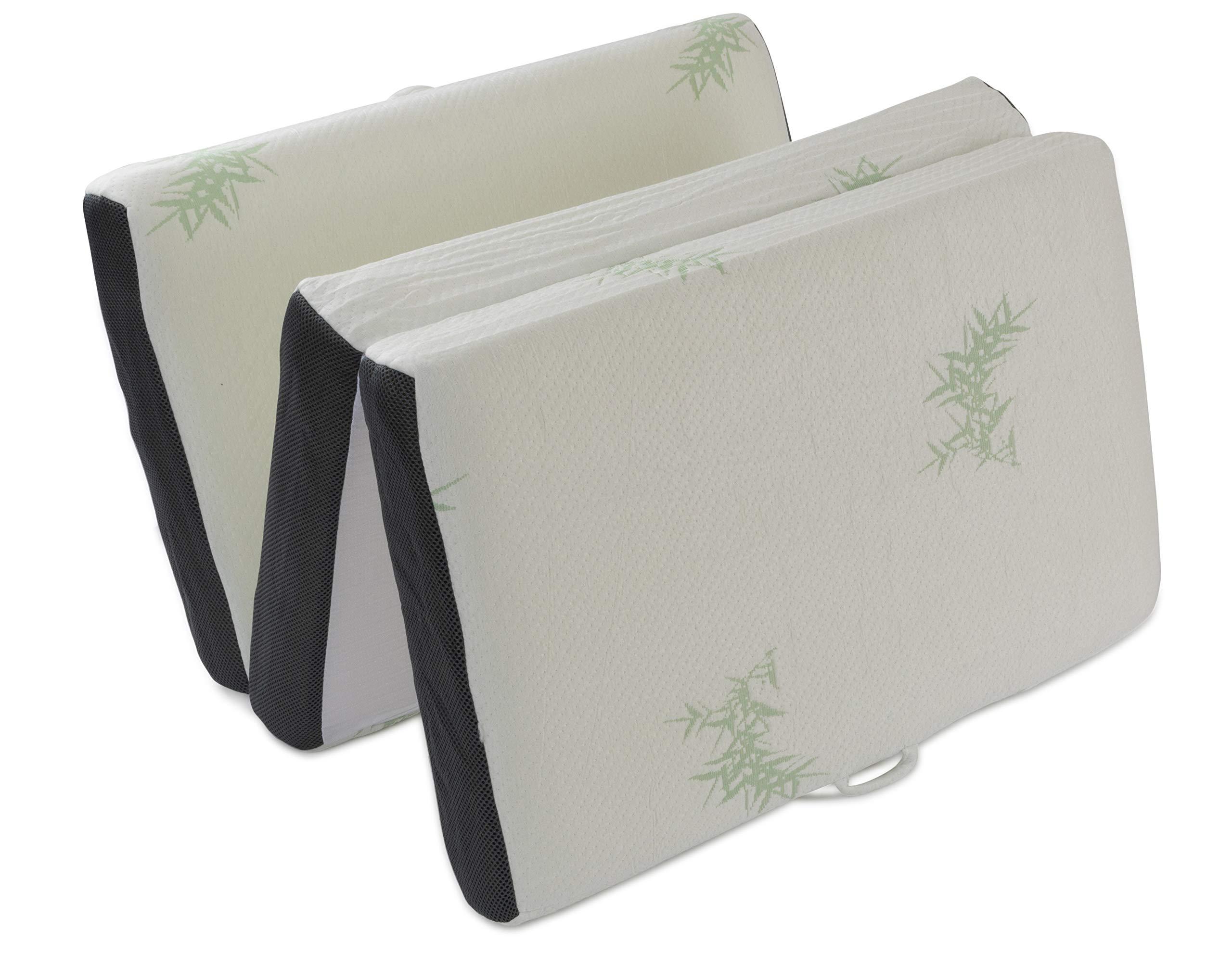 LifeSmart USA Memory Foam Travel Mattress Foldable Ultra Thick Non-Slip Bottom, Including Carry Strap (Toddler) by LifeSmart