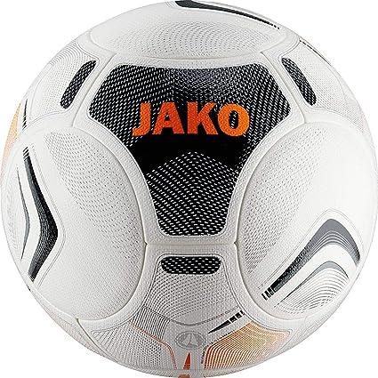 Jako Galaxy 2.0 Balón de fútbol, Color Blanco/Negro/Naranja, 5 ...