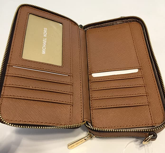 07e5c51e44e8 MICHAEL Michael Kors Jet Set Travel MF Phone Crossbody (Signature MK Brown  Acorn)  Amazon.ca  Shoes   Handbags