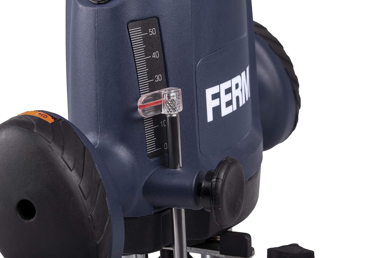 Parallelf/ührung und /Übergabepunkt 3m Kabel Inkl 1200W 3-teiliges Fr/äserset Variable Geschwindigkeit Kopierring FERM Oberfr/äse 6,8 mm