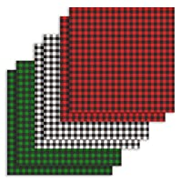 6 Sheets Buffalo Plaid Iron on Fabric, 12×12 Inch Christmas Buffalo Check Adhesive Thermal Transfer Heat Transfer Cloth Sheets for DIY Craft(Assorted 3 Colors)