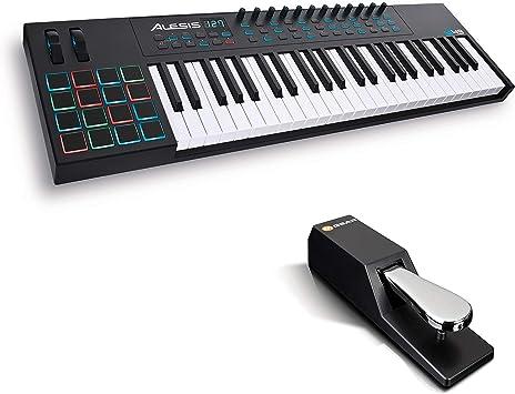 Alesis VI49 + M-Audio SP-2 - Teclado Controlador MIDI USB de ...