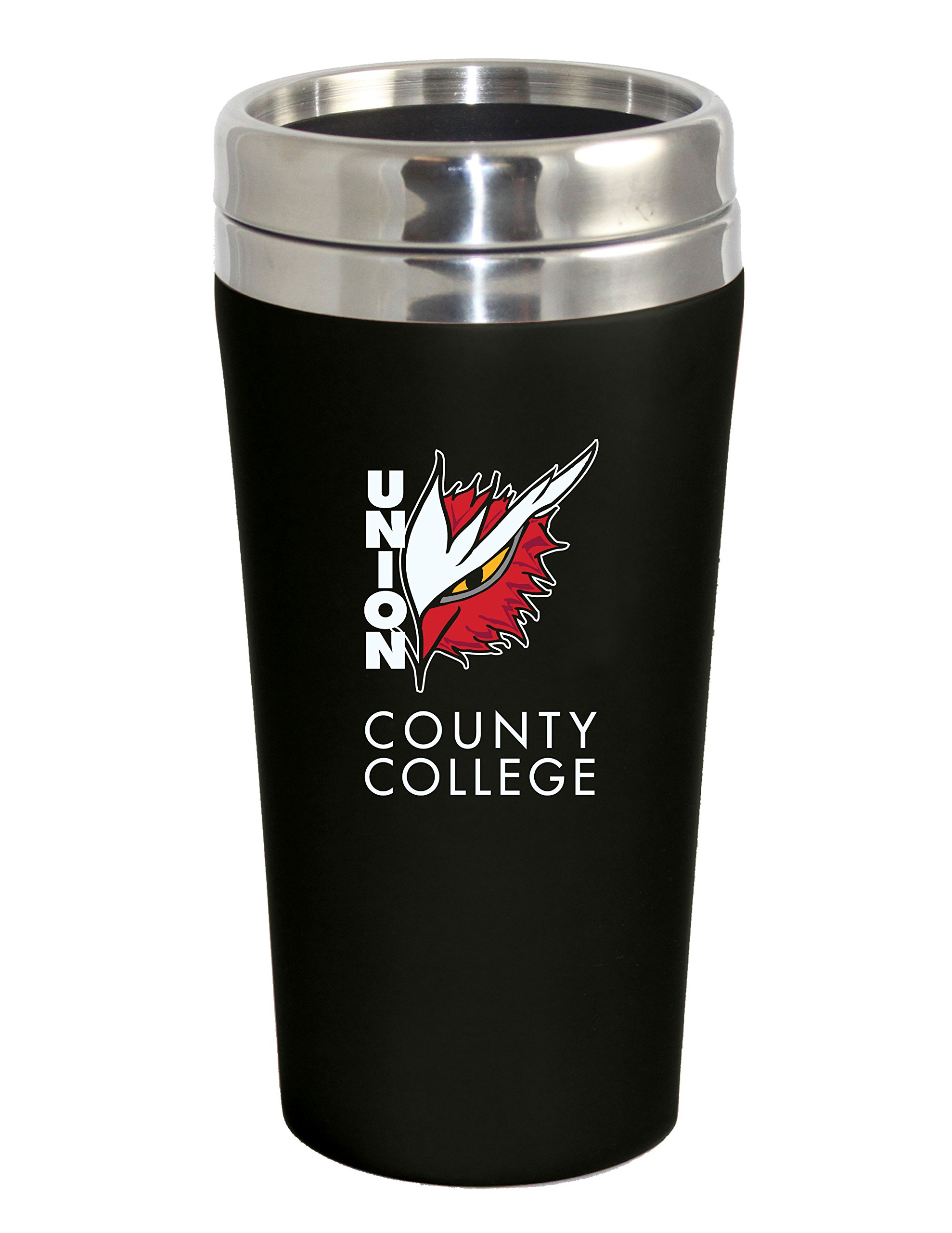 Fanatic Group Union County College Double Walled Travel Tumbler, Black - Design 2 by Fanatic Group (Image #1)