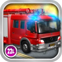 Kids Vehicles 1: Interactive Fire Truck - Animated 3D Games Fire Engine Adventure for Little Firefighters and Drivers of Firetrucks (Abby Monkey edition) by 22learn