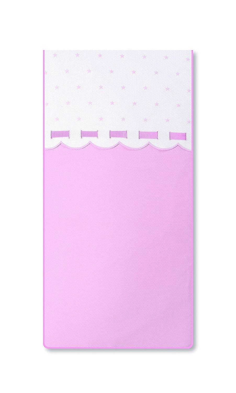 Bimbi Class–Bettbezug, 62x 125cm, weiß und rosa
