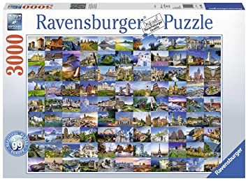 6d0e598f88f Ravensburger 99 Beautiful Places in Europe, 3000pc Jigsaw puzzle ...