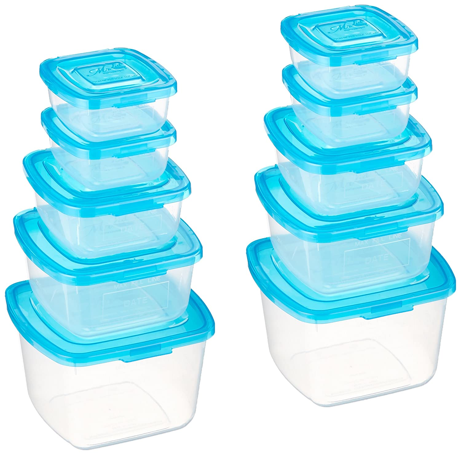 Mr. Lid 10 Piece Attached Lid Plastic Container Set As Seen On T.V. Unknown FBA_MrLid-setof2