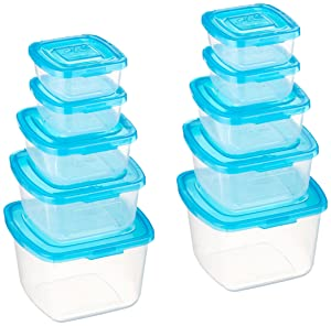 Mr. Lid 10 Piece Attached Lid Plastic Container Set As Seen On T.V.
