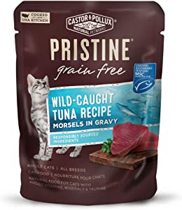 Castor & Pollux Pristine Grain Free Morsels in Gravy Wet Cat Food (24) 3 oz. Pouches