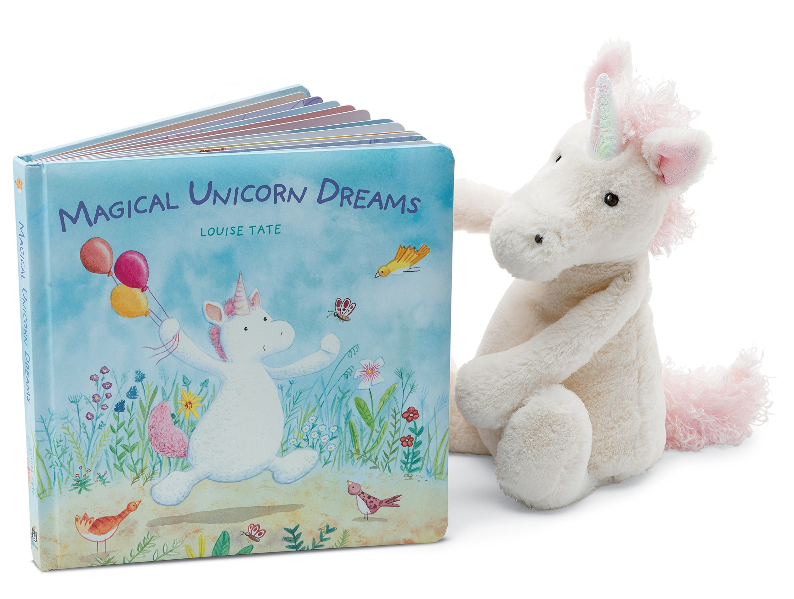 Jellycat Magical Unicorn Dreams Board Book and Bashful Unicorn, Medium - 12 inches by Jellycat (Image #1)