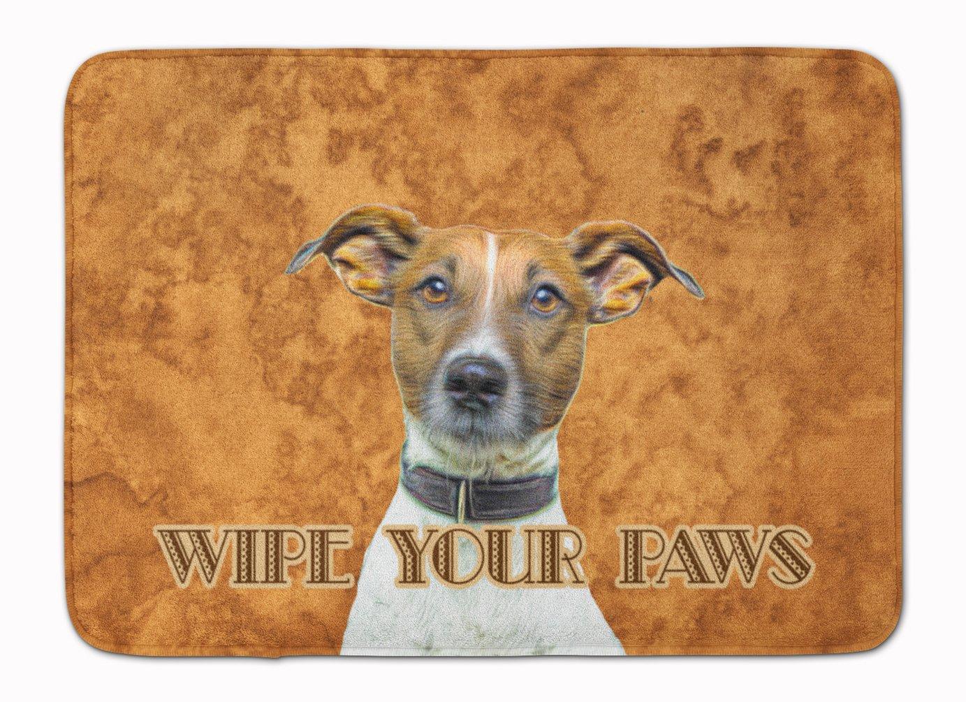 19 x 27 Multicolor Carolines Treasures KJ1218RUG Jack Russell Terrier Wipe Your Paws Floor Mat