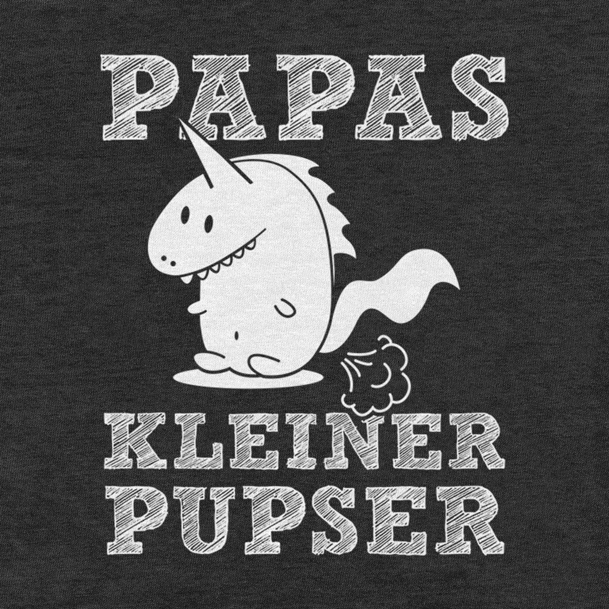 Papas Kleiner Pupser Dino Unisex Baby T-Shirt Design f/ür Babys