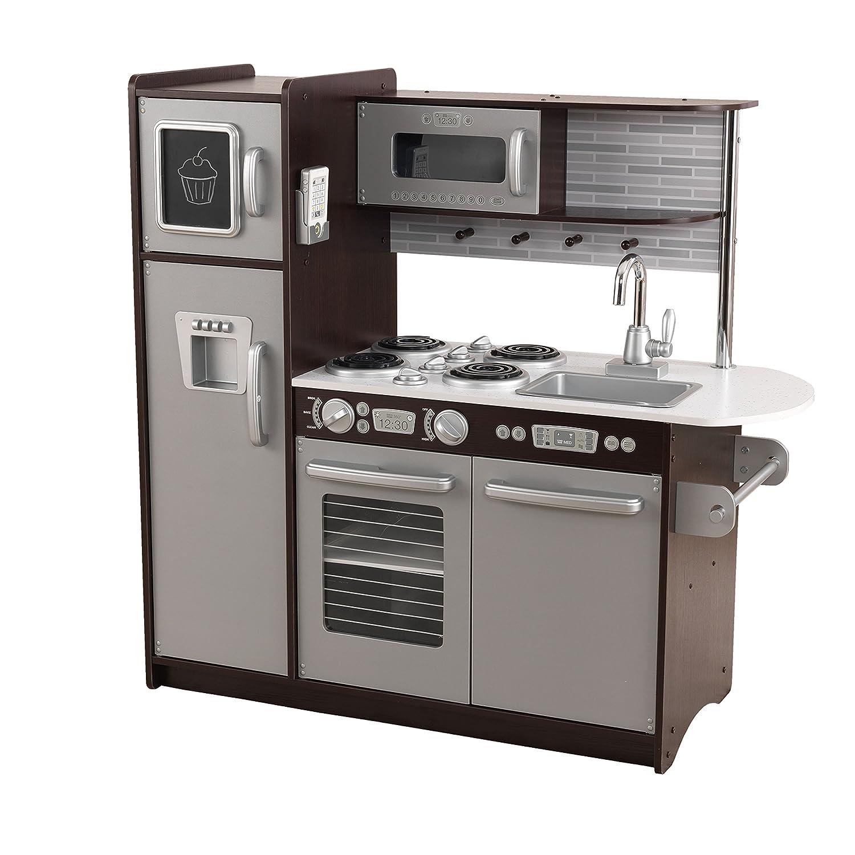 Kidkraft Uptown Kitchen | Amazon Com Kidkraft Uptown Espresso Kitchen Toys Games