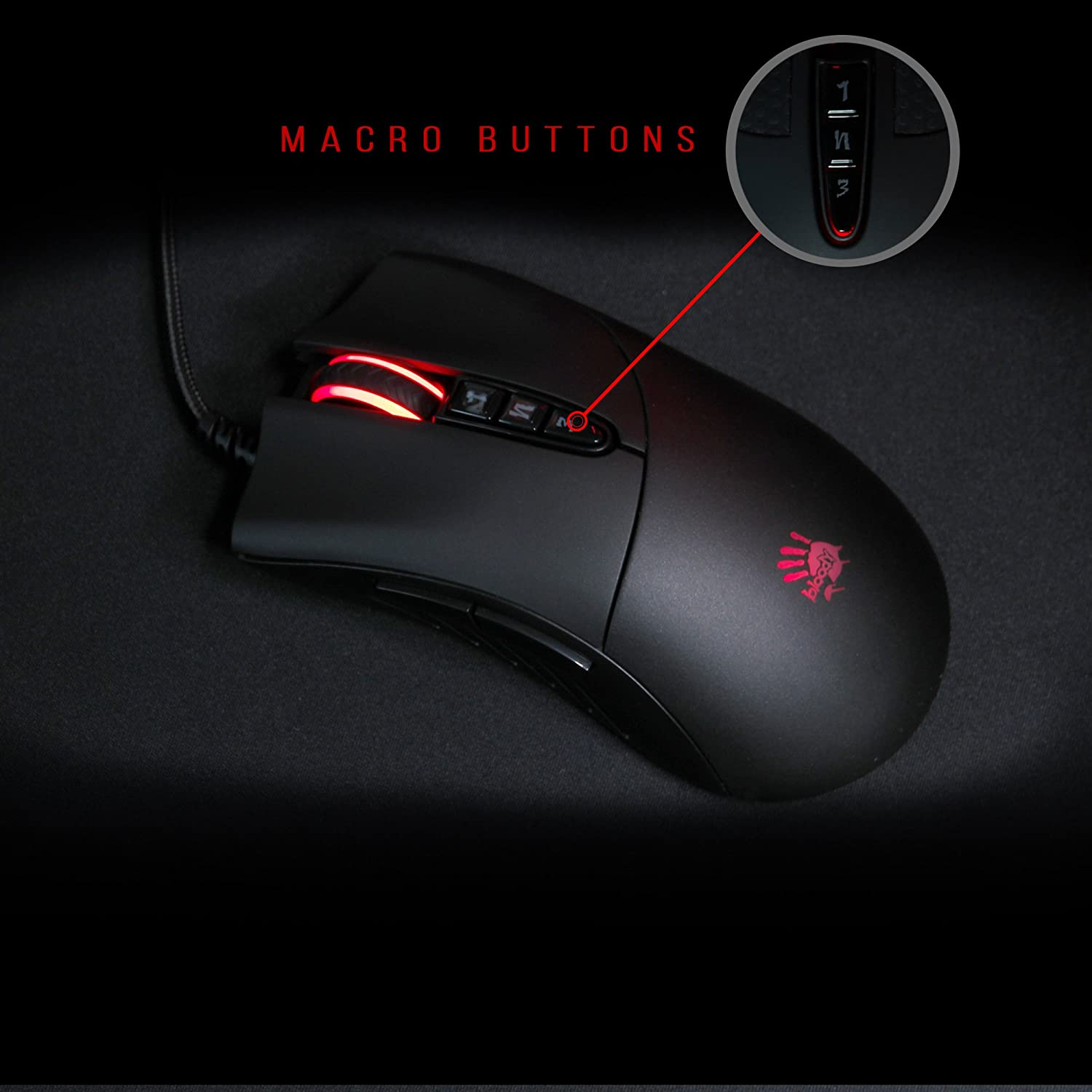 Bloody V3 Pro Gaming Mouse - 8 Buttons - Programmable LED Mice